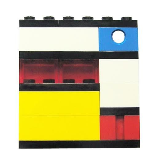 Geek chic Primary Colors brooch  made from by MademoiselleAlma  #MademoiselleAlma #LEGO #ETSY
