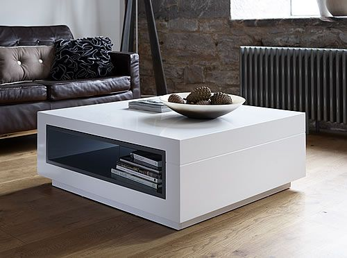 Savoye Coffee Table With Open Ended Storage