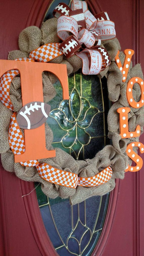 TN Vols wreath. Tennessee Vols wreath. Tennessee by CraftyDuty