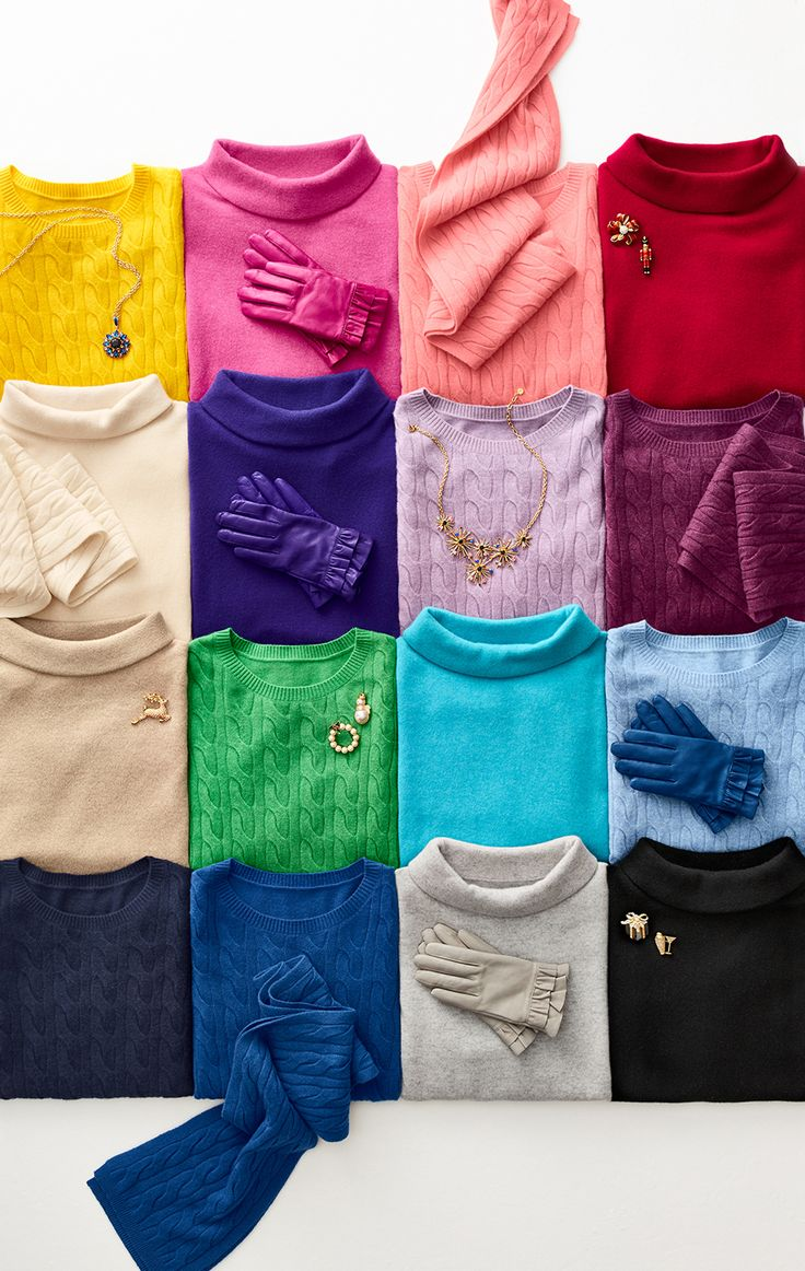 Gift colorful cashmere this holiday season. Available in a kaleidoscope of colors and endless choices, it is the ultimate in luxury for gifting (& getting)! | Talbots
