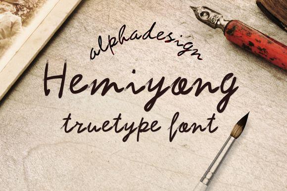 Check out Hemiyong TrueType Font by alphadesign on Creative Market