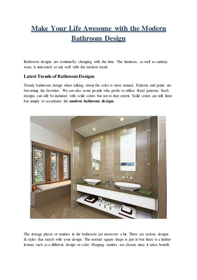 You can choose us to get the assistance of highly trendy and #modern #bathroom #design. We are a pioneer in the field from whom you can get the best ever services.
