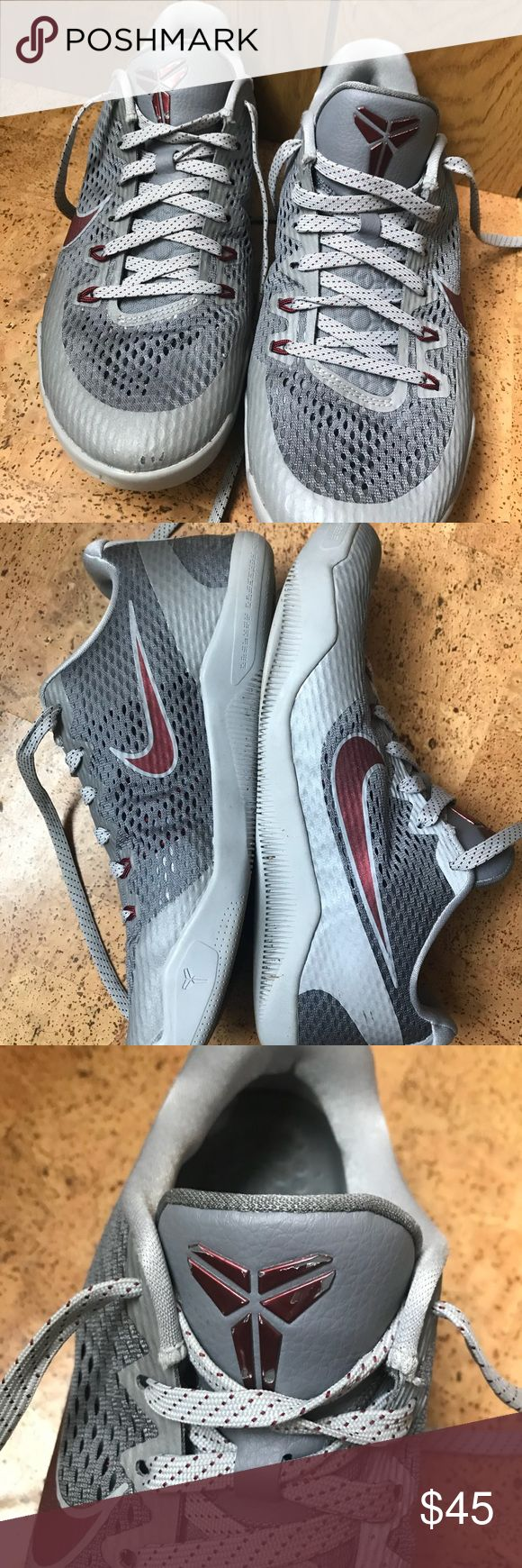 Kobe 11 basketball shoes Kobe 11, worn a few times but still in good condition. Paint came off one side of the Kobe symbol of the tongue. A scruff on the front of one. Will be cleaned and polished before shipment. Nike Shoes Athletic Shoes