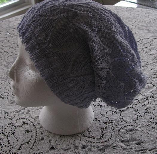 Slouchy Beanie Dreads Hat  Lavender Cotton  Lace by stephaniesyarn, $25.00: Dreads Decor, Slouchy Beanie, Style Knits, Dreads Hats, Lavender Cotton, Hats Lavender, Cotton Lace, Beanie Dreads