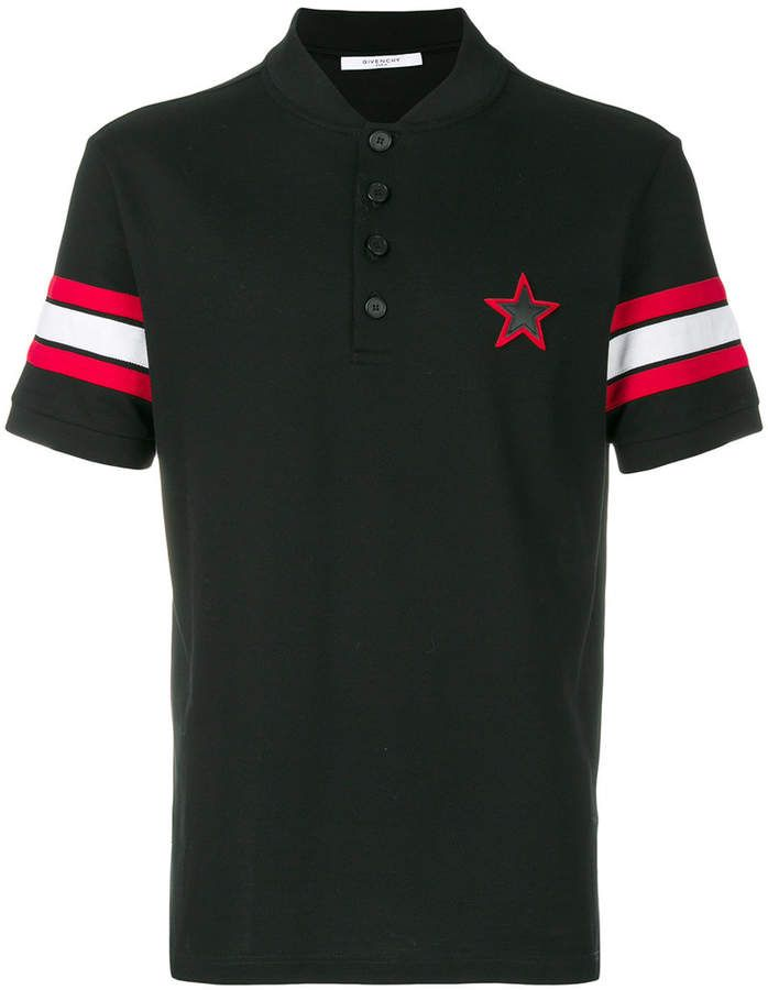 f23f68a0 Givenchy star patch polo shirt | Men's Clothing, Shoes & Accessories ...