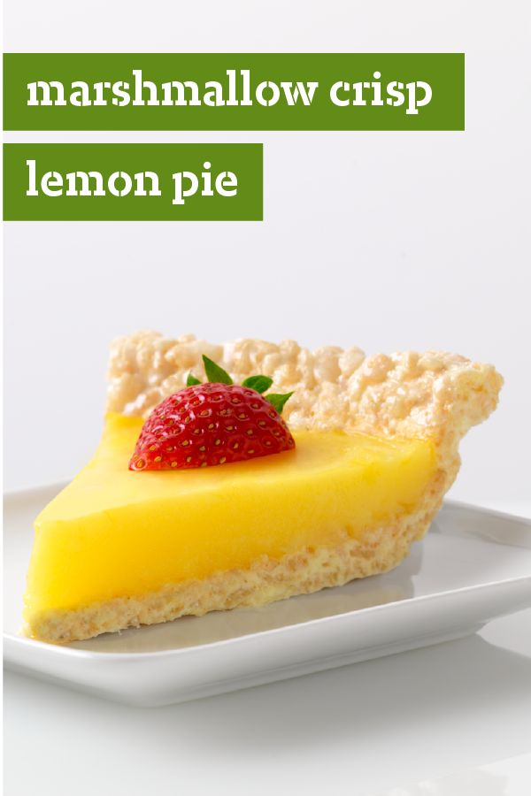 Marshmallow Crispy Lemon Pie – Lemon pudding makes a yummy filling ...