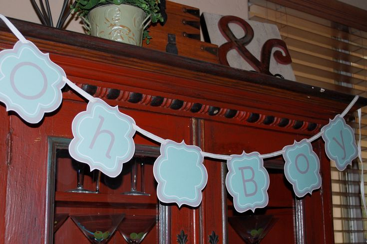 Paging Supermom! ~ Oh Boy!  free printable baby shower banner and blank form for invitation, menus, and/or gift record