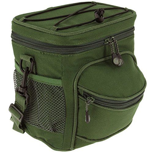 NGT Unisex Insulated Cooler Bag Food Bait Carp Pike Boilies Deadbaits, Green, 21.5 x 15 x 22 cm