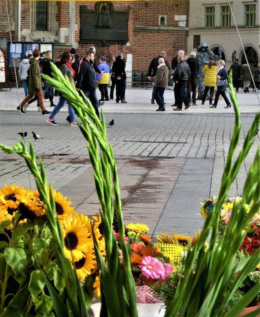WWW Wiersze Wycieczki Wspomnienia: Jesienne bukiety na krakowskim Rynku