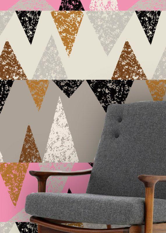 Self adhesive wallpaper , temporary wallpaper,removable wallpaper, geometric wallpaper , geometric pattern,peel and stick wallpaper 145