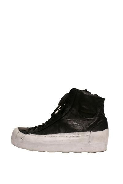 OXS Rubber Soul - Black + White Rubber Dipped High Top Sneakers