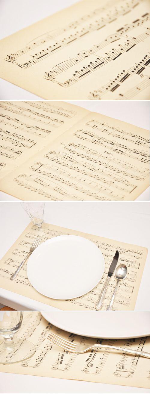 Music Sheet Placemats