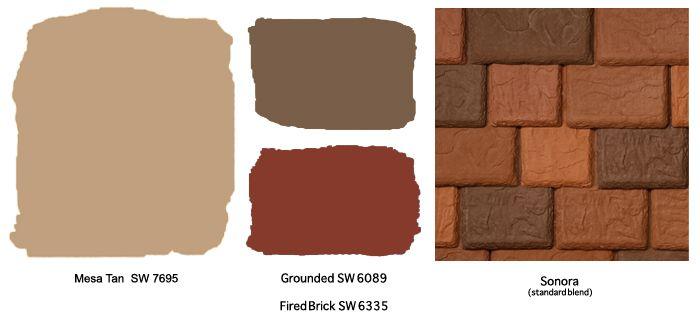 Stucco exterior home color schemes terra cotta roof for Southwest desert color palette