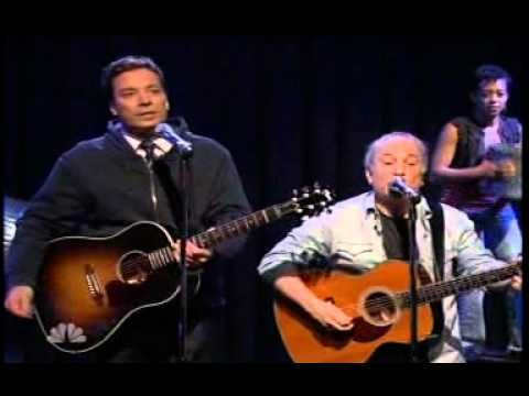 ▶ Stomp, Jimmy Fallon, Paul Simon Cecilia - YouTube