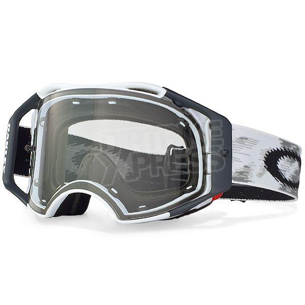 Oakley Batwolf Lenses >> Oakley Airbrake MX Goggles - Matte White Speed   Oakley ...