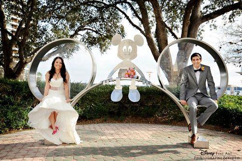 A fun photo op at Disney's Contemporary Resort at Walt Disney World in Orlando, FL.