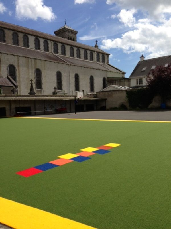 Sanctuary Synthetics - safe play surface @ Carrick On Suir primary school.
