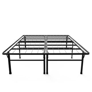 Priage 18-inch High Profile SmartBase Black Platform Bed Frame, Queen - 18644450 - Overstock.com Shopping - Big Discounts on Priage Bed Frames