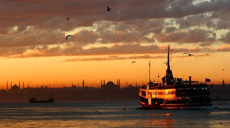 Sunset in Istanbul ...