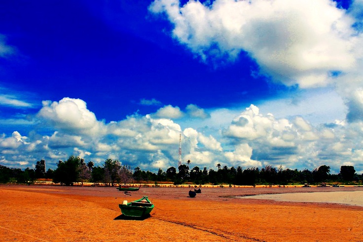 Tanah Merah Beach on Bangka Island, Indonesia