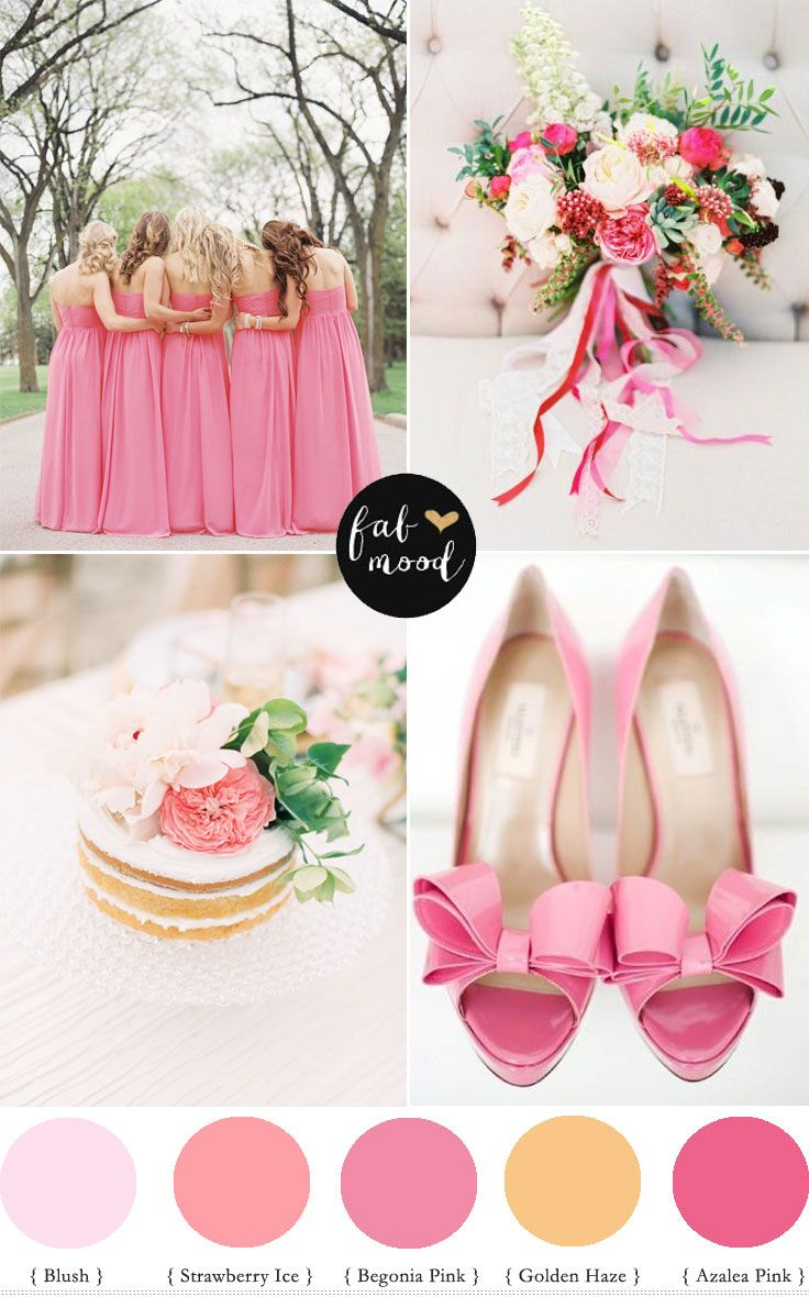 Strawberry Ice Pantone Spring 2015 wedding palette - Pink Colour Palette | fabmood.com