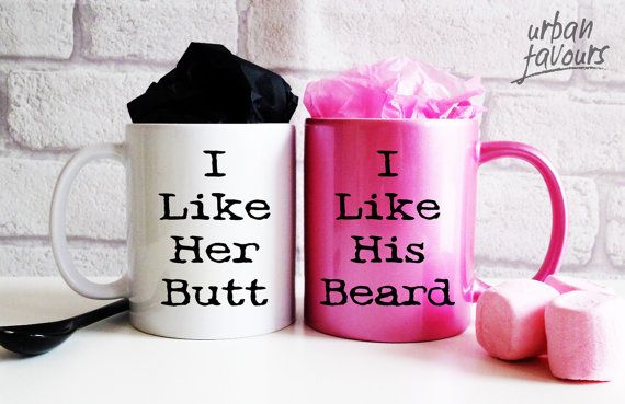 Our 11oz ceramic novelty mugs are the perfect gifts for your friends and family! YOU WILL RECEIVE TWO MUGS (one plain white ceramic mug for him and
