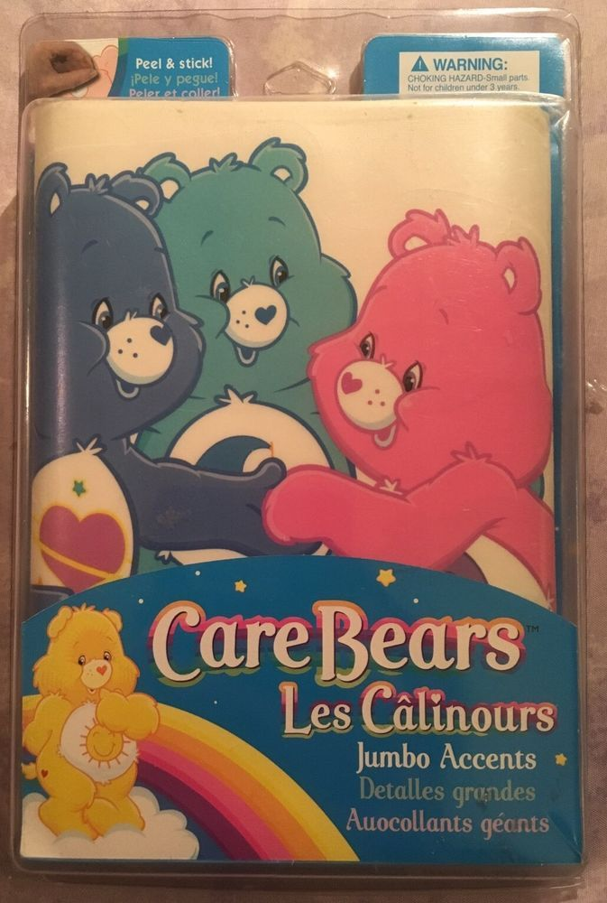 CARE BEARS 32 Jumbo Wall Stickers Decals - Windows Walls Crafts - Brand New! #Brewster #RemovablePeelandStickVinylBedroomDecorations