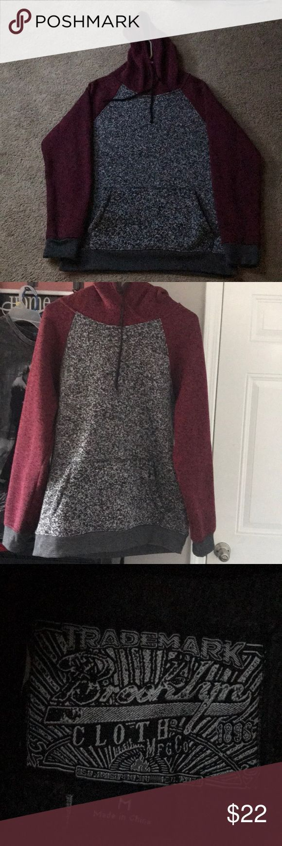 Brooklyn Clothing MFG Company Hoodie Brooklyn Clothing Manufacturing Company Hoodie. Size adult Medium. 100% polyester. Burgundy hood and sleeves and multi colored black and white body. One owner and no smoking home. Great condition! Brooklyn Clothing Shirts Sweatshirts & Hoodies