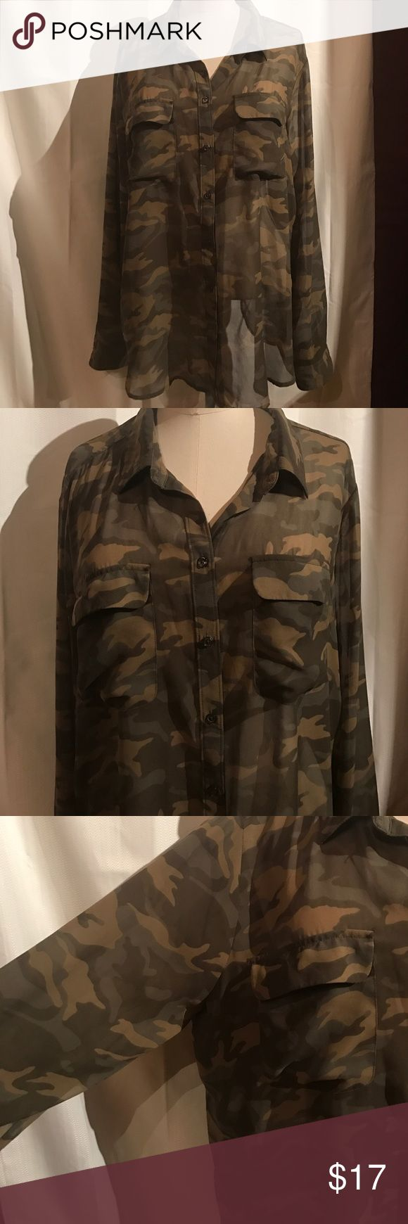 Sheer Camo/Camouflage top XL Sheer Camo/Camouflage top XL. Great for spring and summer. Old Navy Tops