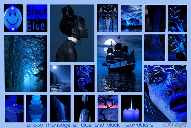 Photo montage 51. Blue and black inspirations