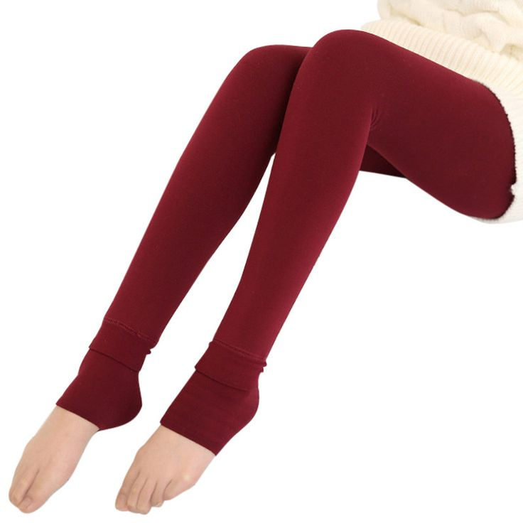 Autumn Winter Warm Leggings Women High Waist Thicken Pencil Pants Plus Size Candy Colors Knitted Slim Stretch Legging
