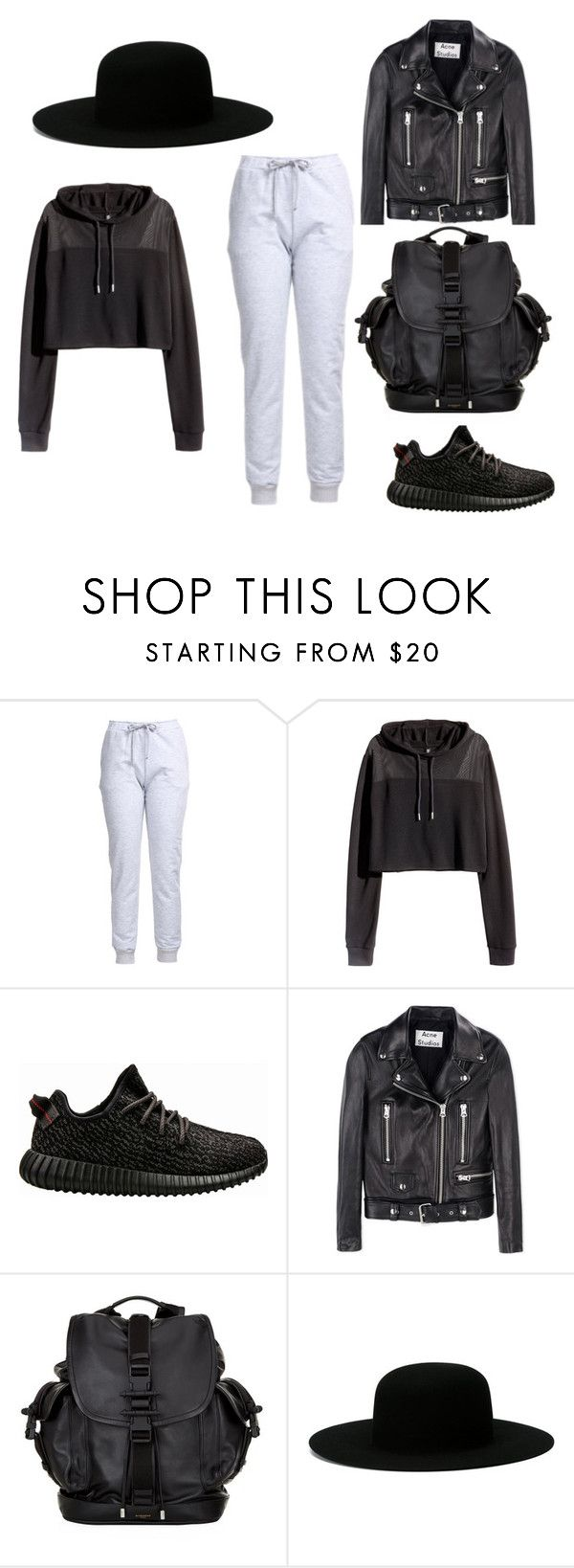 """""""CASUAL CHIC"""" by iamamaven on Polyvore featuring H&M, adidas, Acne Studios, Givenchy and Off-White"""