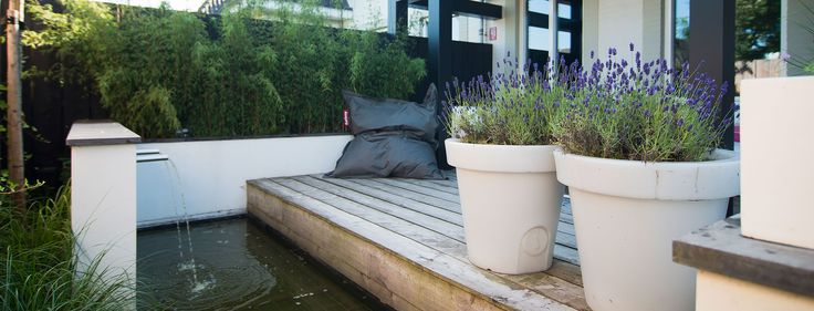 1000 idee n over stadstuinen op pinterest schuur voor de vuilnisbak zit gedeelten in de tuin - Eigentijdse landscaping ...