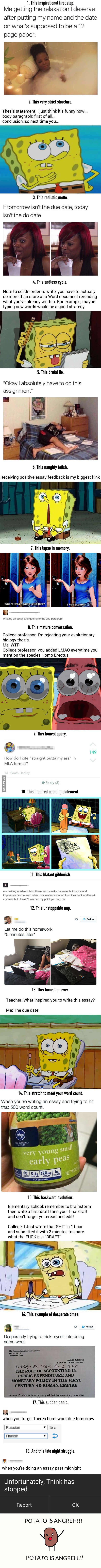 18 Jokes Every Student Whose Written Anything Will Laugh At - 9GAG