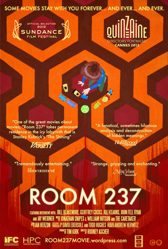 """ROOM 237 is a subjective documentary which explores numerous theories about Stanley Kubrick's """"The Shining"""" and its hidden meanings."""