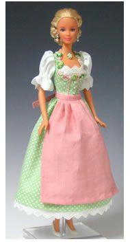 Puppendirndl für die Barbie Puppe