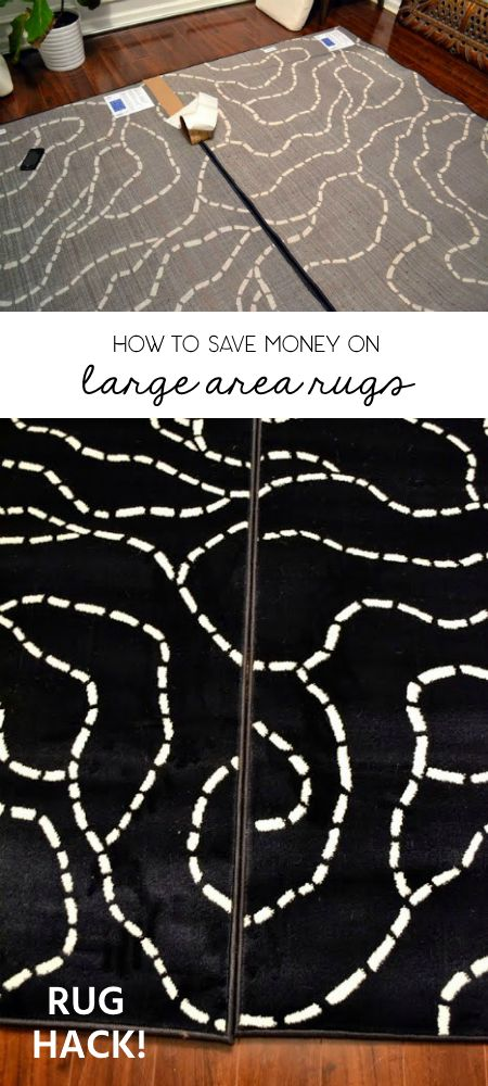 rug hack how to save money on large area rugs