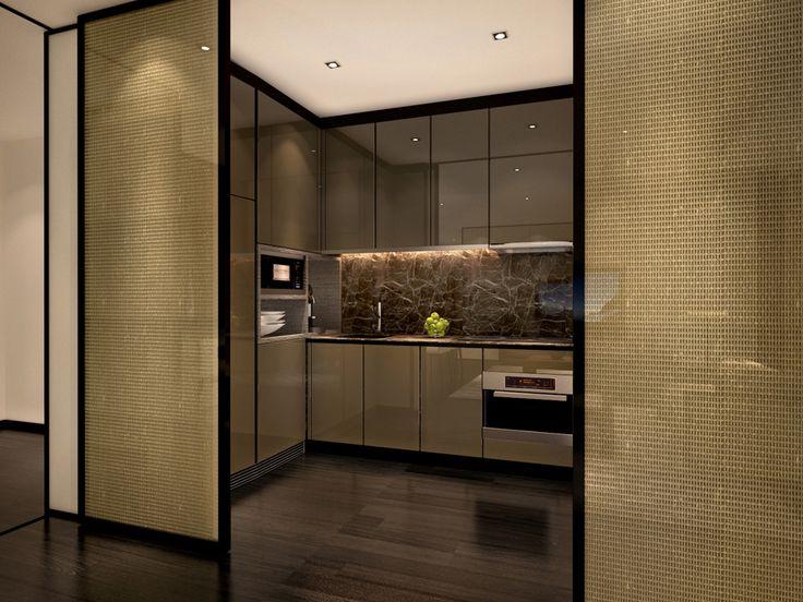 service apartment_armani_kitchen entry