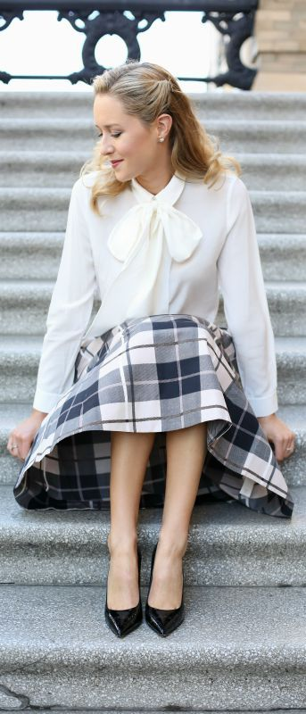 Long Sleeve Bow Tie Blouse