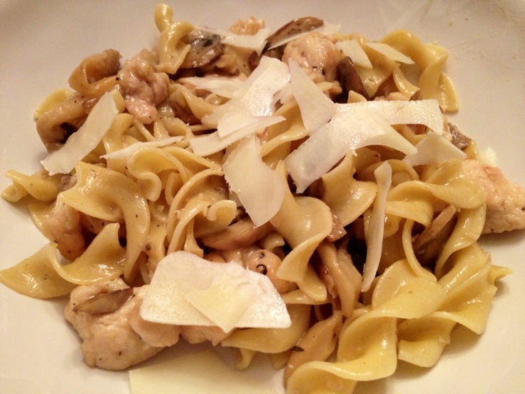 Chicken & Mushroom Pasta with Garlic White Wine Sauce ...