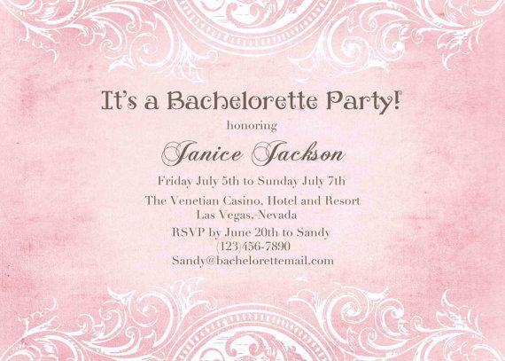 26 best images about Printable DIY Bachelorette Party Invitations – Las Vegas Bachelorette Party Invitations