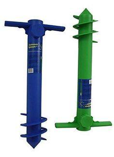 Seasonal Industries Inc. - Plastic Beach Umbrella Anchor - 1 Unit (Color: colors may vary)