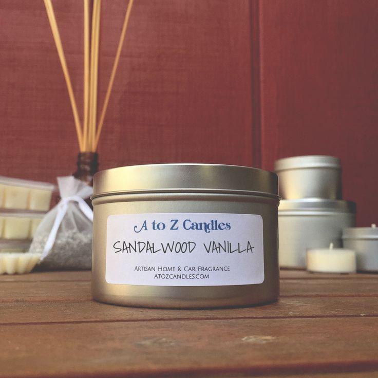 SANDALWOOD VANILLA, Sandalwood Vanilla Candle, Sandalwood Candle, Sandalwood Vanilla Wax Melt, Soy Wax Tart, Reed Diffuser, Car Freshener