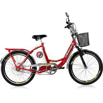 Bicicleta Elétrica Track Bikes TKX City 250W Aro 24 36V Vermelho – Track Bikes - http://batecabeca.com.br/bicicleta-eletrica-track-bikes-tkx-city-250w-aro-24-36v-vermelho-track-bikes.html