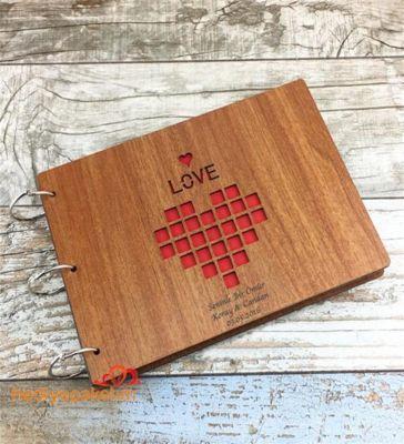 İsme Özel Love Temalı Ahşap Kendin Yap Albüm