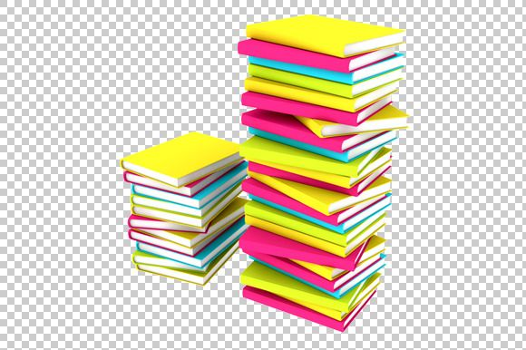 Books Stacks 3D Render PNG Graphics 3d And Book