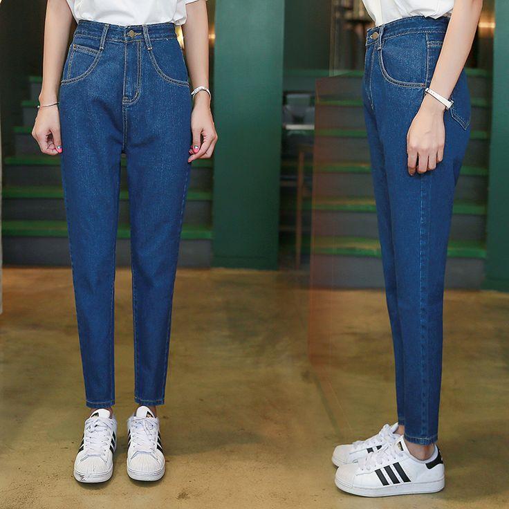 2017 Fashion Vintage Ladies Retro High Waist Jeans Woman Harem Loose Casual Denim Trousers Boyfriend Jeans for Women 227 #Affiliate