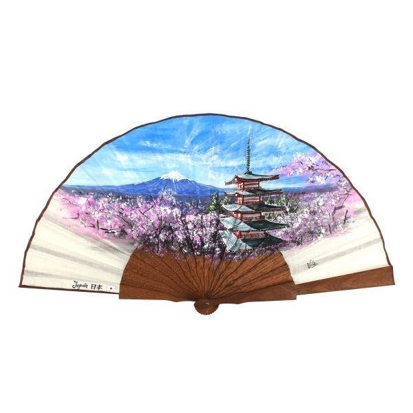 Monte Fuji Japón abanico pintado a mano