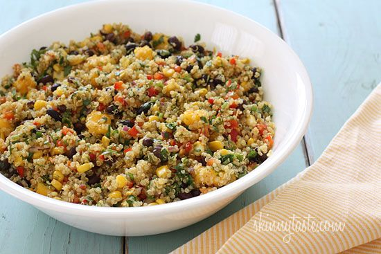 Southwestern Black Bean, Quinoa and Mango Medley | Skinnytaste: Side Dishes, Black Beans, Mango Cilantro Salad, Southwestern Black, Skinnytaste Quinoa, Mr. Beans, Favorite Recipes, Blackbean, Mango Medley