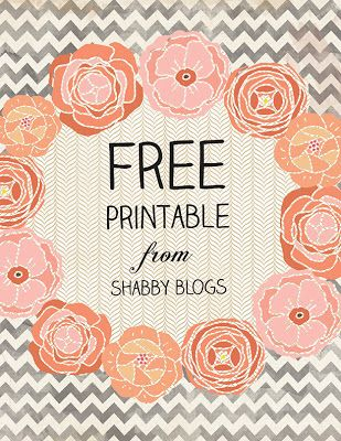 Shabby Blogs: Make Your Own Free Printable #free #printable